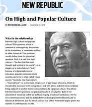 On High and Popular Culture