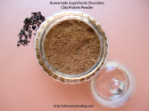 Homemade Superfoods Chocolate Chia Protein Powder