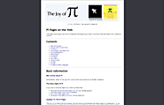 Joy of Pi | Pi Links