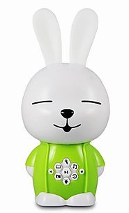Green and White Rabbit Childrens Digital MP3 Player Top Gift for Young Kids