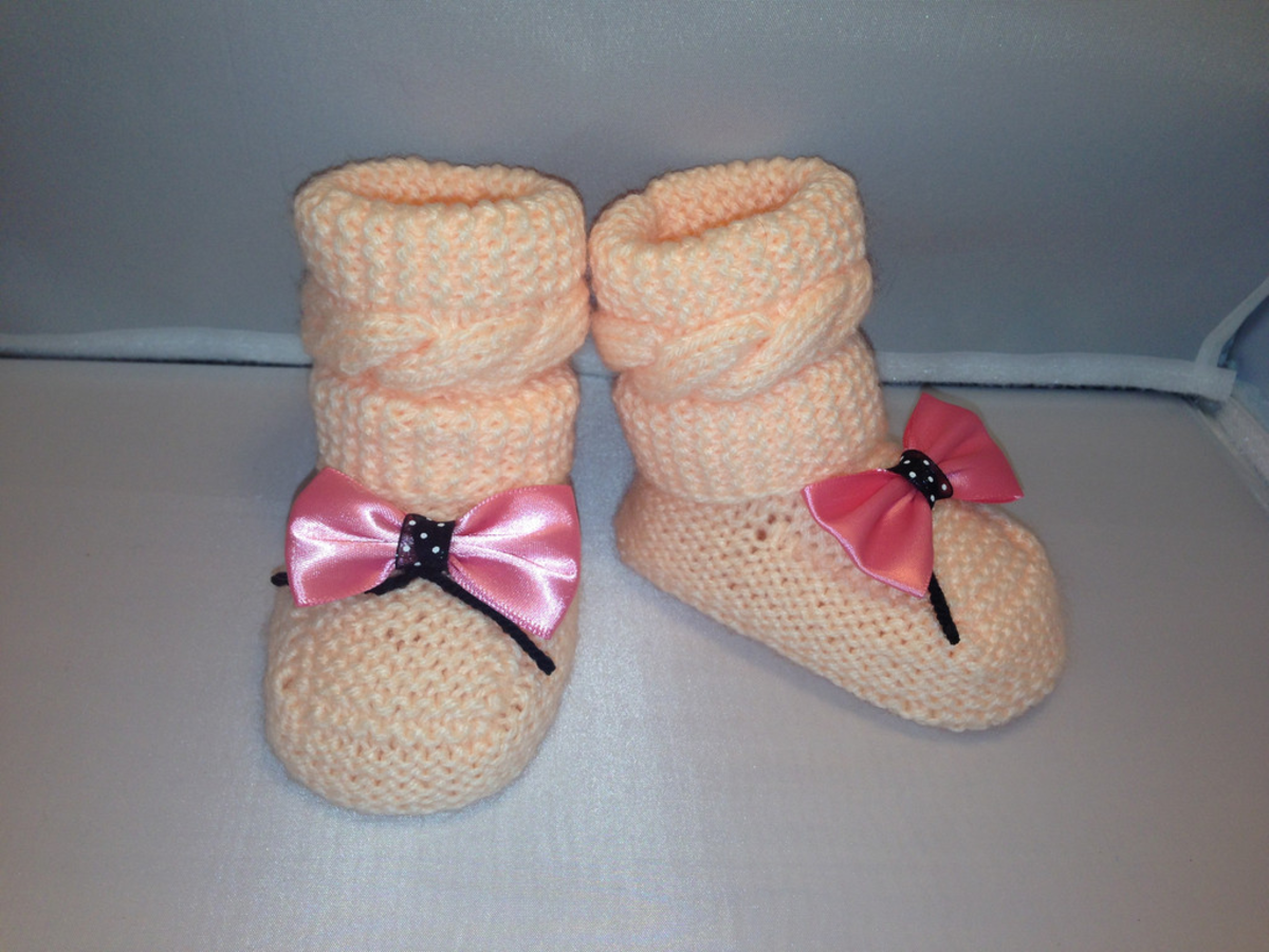 Headline for Knitted Baby Booties