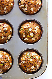 Healthy Zucchini Muffins | Gimme Some Oven