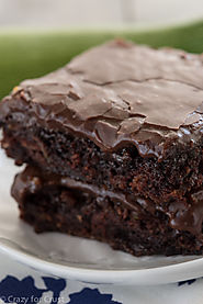 Zucchini Brownies - Crazy for Crust