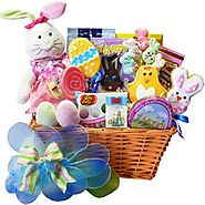 Art of Appreciation Gift Baskets Easter Sweet Shop Extravaganza Gift Basket with Plush Bunny Rabbit