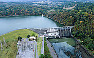 Bull Shoals Dam, the fifth largest concrete dam in the United States. Arkansas is known for its lakes and rivers.