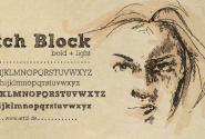 Sketch Block Font and @Font-Face Web Font by Artill Typs | Fontspring