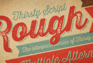 Thirsty Rough Font and @Font-Face Web Font by Yellow Design Studio | Fontspring