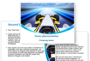 Formula One Bolide PowerPoint Template