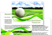 Ball For Golf PowerPoint Template