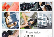 Fitness Collage PowerPoint Template