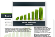 Growing Chart PowerPoint Template