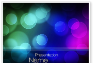 Colored Light Spots PowerPoint Template
