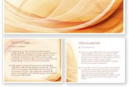 Abstraction in a Sand Color PowerPoint Template