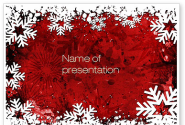 Snowflakes Frame PowerPoint Template