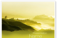 Morning on Tea Plantation PowerPoint Template