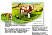 Cow On The Nature PowerPoint Template
