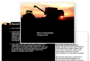 Combine Harvester PowerPoint Template