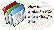 Google Site Support - Embedding a PDF into a Google Site - Put your pdf document into a Google Site