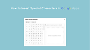 How to Insert Special Characters in Google Docs, Slides and Drawings - The Gooru