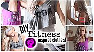 DIY Fitness Inspired Clothing | #fitnessfriday
