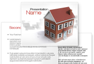 Model Of Townhouse PowerPoint Template