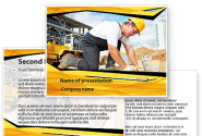 House Builder On Construction Site PowerPoint Template