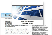 Blue Skyscraper PowerPoint Template