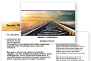 Railroad Stretching Into The Distance PowerPoint Template