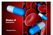 Medicine in Blood PowerPoint Template