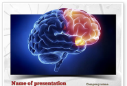 Human Brain Frontal Lobe PowerPoint Template