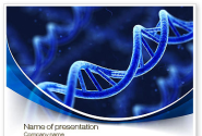 3D DNA PowerPoint Template