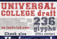 UNIVERSAL-COLLEGE-draft font by FontsCafe - FontSpace