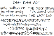 DearKatieNBP font by total FontGeek DTF, Ltd. - FontSpace