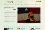 Lillian | WordPress Music Theme | Female Artists & Musicians