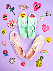 Easy DIY #PatchGame Sneakers! ⋆ Brite and Bubbly