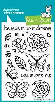 Flutter By Clear Stamp Set (Lawn Fawn)