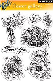 Penny Black Clear Stamp Set, Flower Gallery