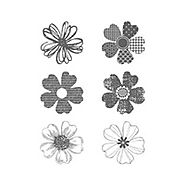 English - Flower Stamps for Card Making