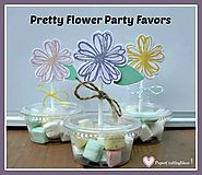DIY Flower Party Favors / Cupcake Toppers - Paper Crafting Ideas