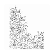 Corner Garden Wood-Mount Background Stamp by Stampin' Up!