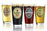 ARC International Luminarc Irish Beer Label Pub Beer Glass, 16-Ounce, Set of 4