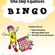 One Step Equations: Bingo Game - FREE