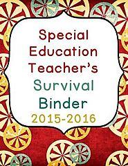 Special Education editable survival binder