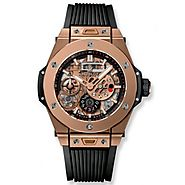 Luxury Replica Hublot Big Bang MECA-10 King Gold 45 mm Mens Watch 414.OI.1123.RX For Sale