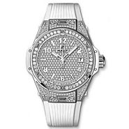 Luxury Replica Hublot Big Bang One Click Steel White Full Pave 39mm Watch 465.SE.9010.RW.1604 For Sale
