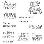 Me = Grateful Clear-Mount Stamps by Stampin' Up!