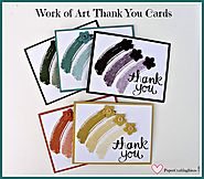 Work of Art Simple Handmade Thank You Cards - Paper Crafting Ideas