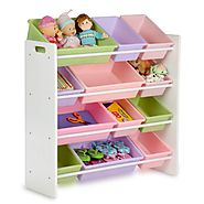 Toy storage organizer with bins on Flipboard