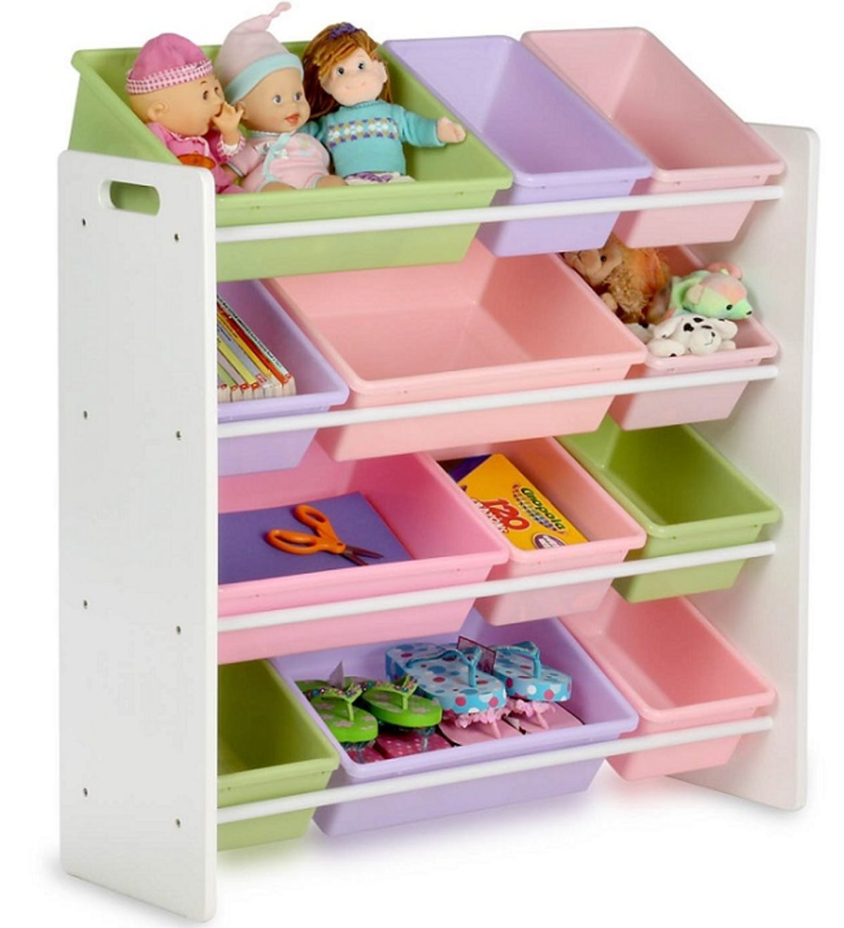 Headline for Toy storage organizer with bins