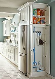 Best Free Standing Broom Closet Cabinet for the Kitchen or Garage